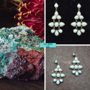 Chandelier Turquoise Stone Earrings